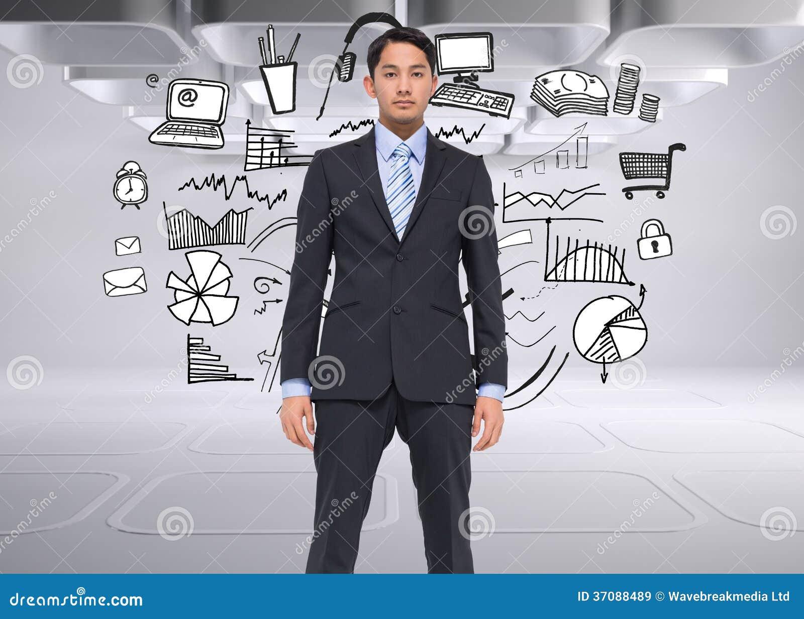 Download Poważny Azjatykci Biznesmen Obraz Stock - Obraz złożonej z biznesmen, osoba: 37088489
