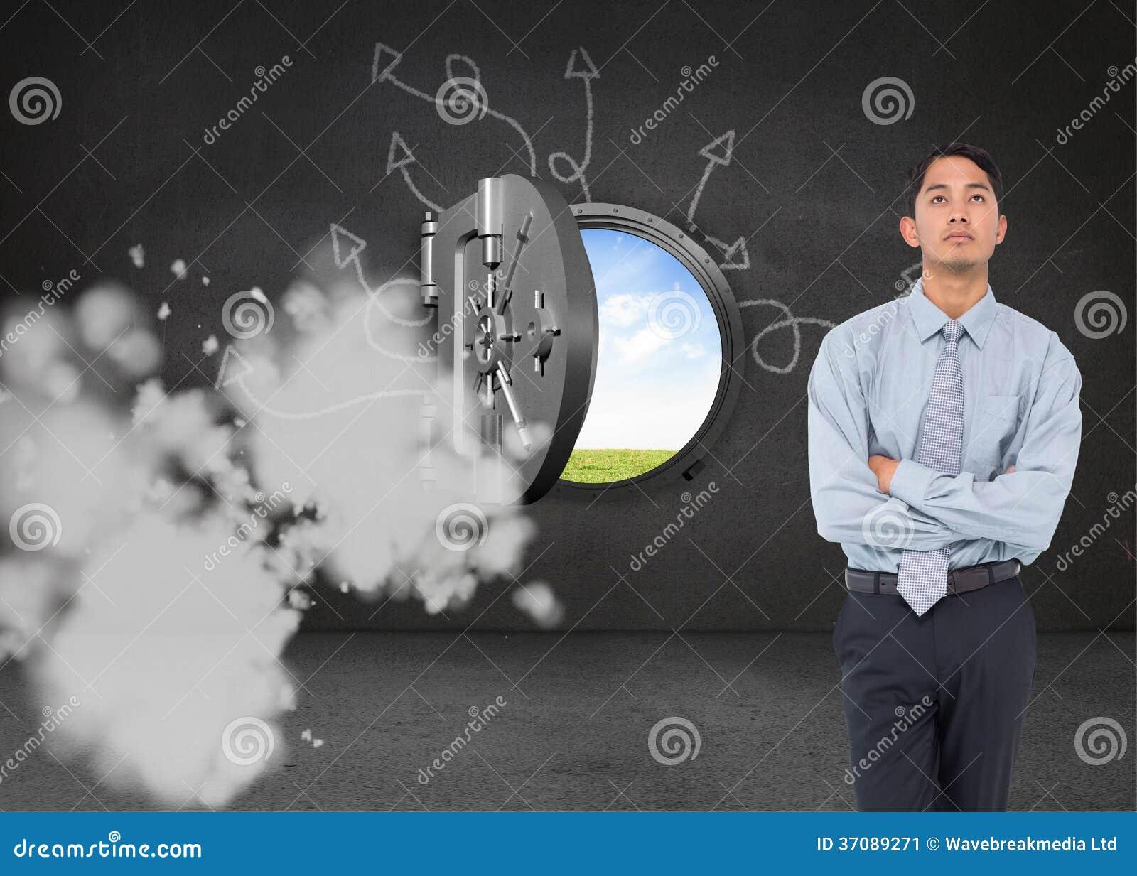 Download Poważny Azjatykci Biznesmen Ilustracji - Ilustracja złożonej z otwarcie, charcica: 37089271