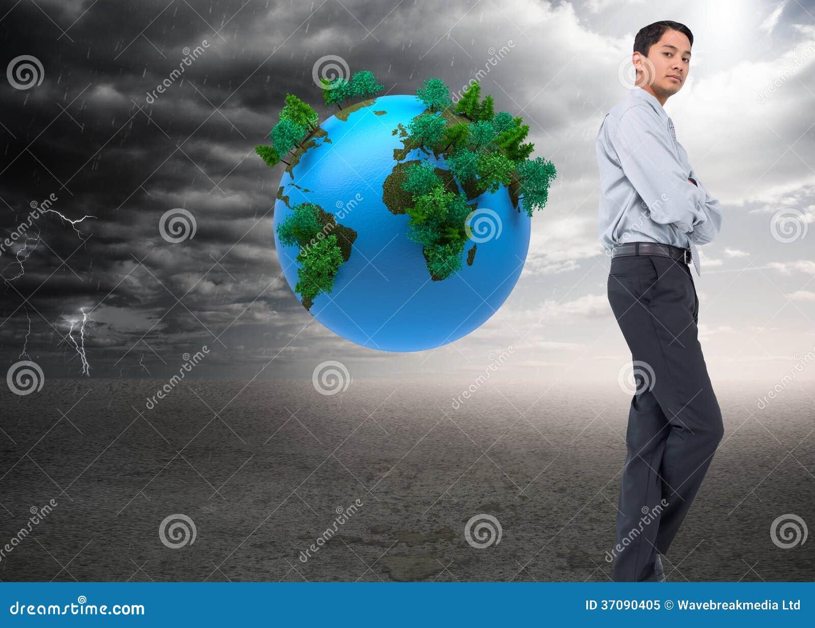 Download Poważny Azjatykci Biznesmen Obraz Stock - Obraz złożonej z środowisko, natura: 37090405