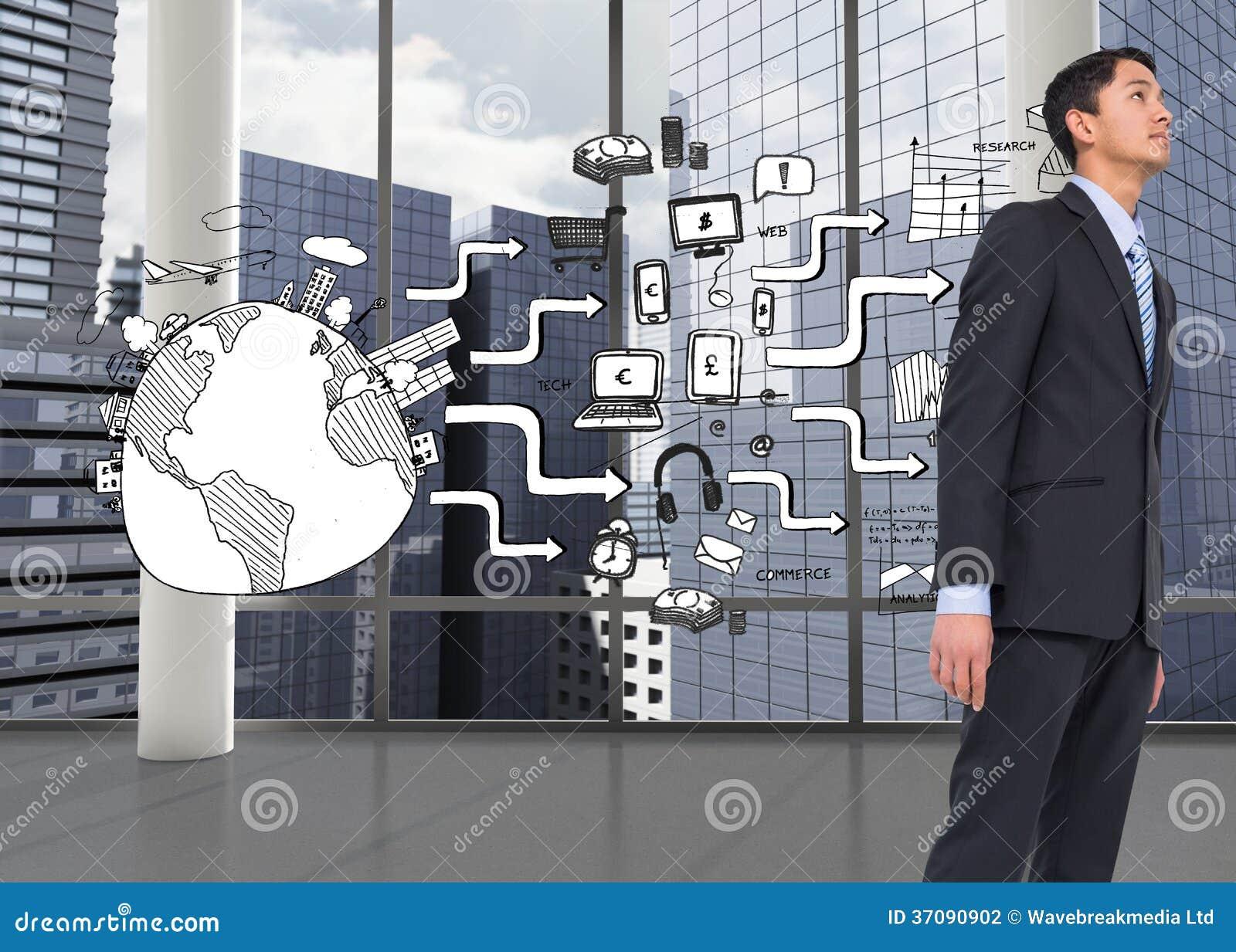 Download Poważny Azjatykci Biznesmen Zdjęcie Stock - Obraz złożonej z strategia, pastylka: 37090902