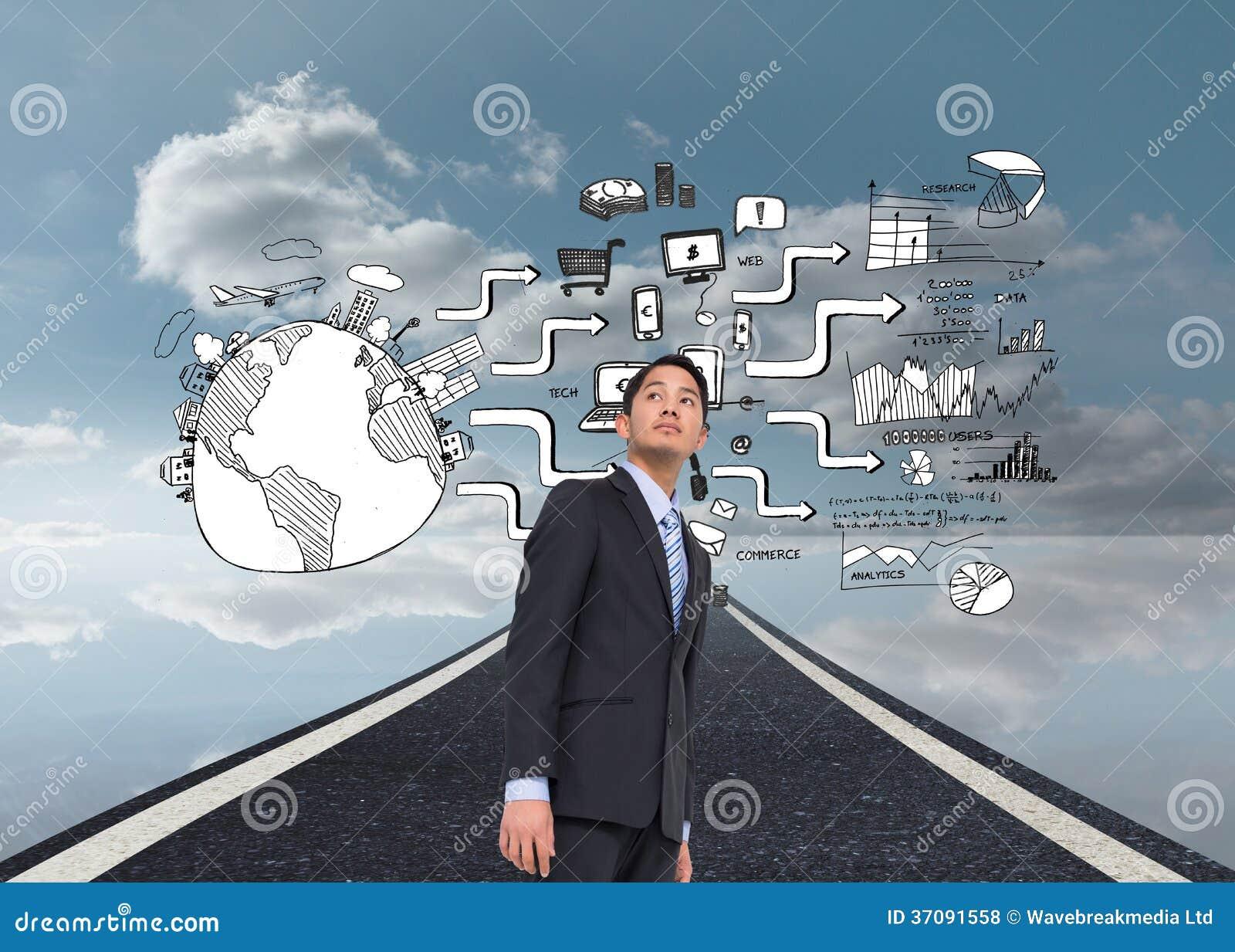 Download Poważny Azjatykci Biznesmen Zdjęcie Stock - Obraz złożonej z composite, strategia: 37091558
