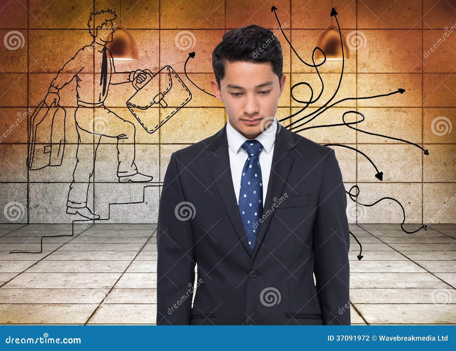 Download Poważny Azjatykci Biznesmen Zdjęcie Stock - Obraz złożonej z stan, pomarańcze: 37091972