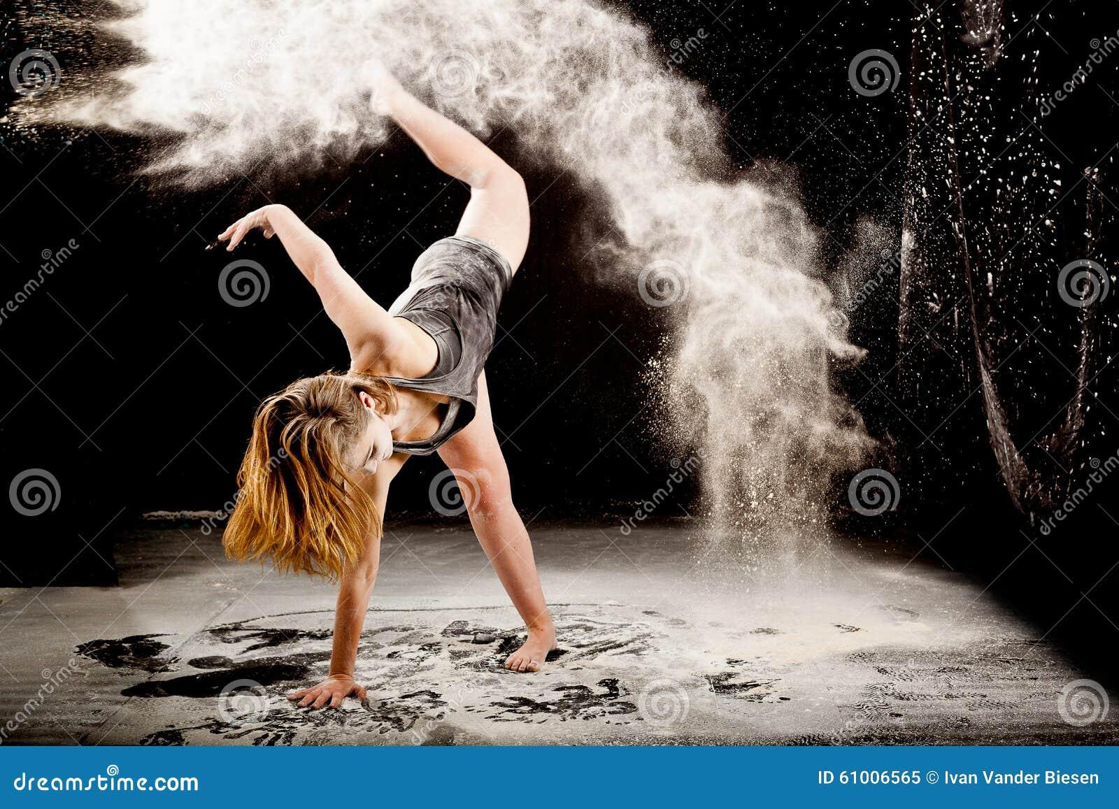Powder contemporay dancer