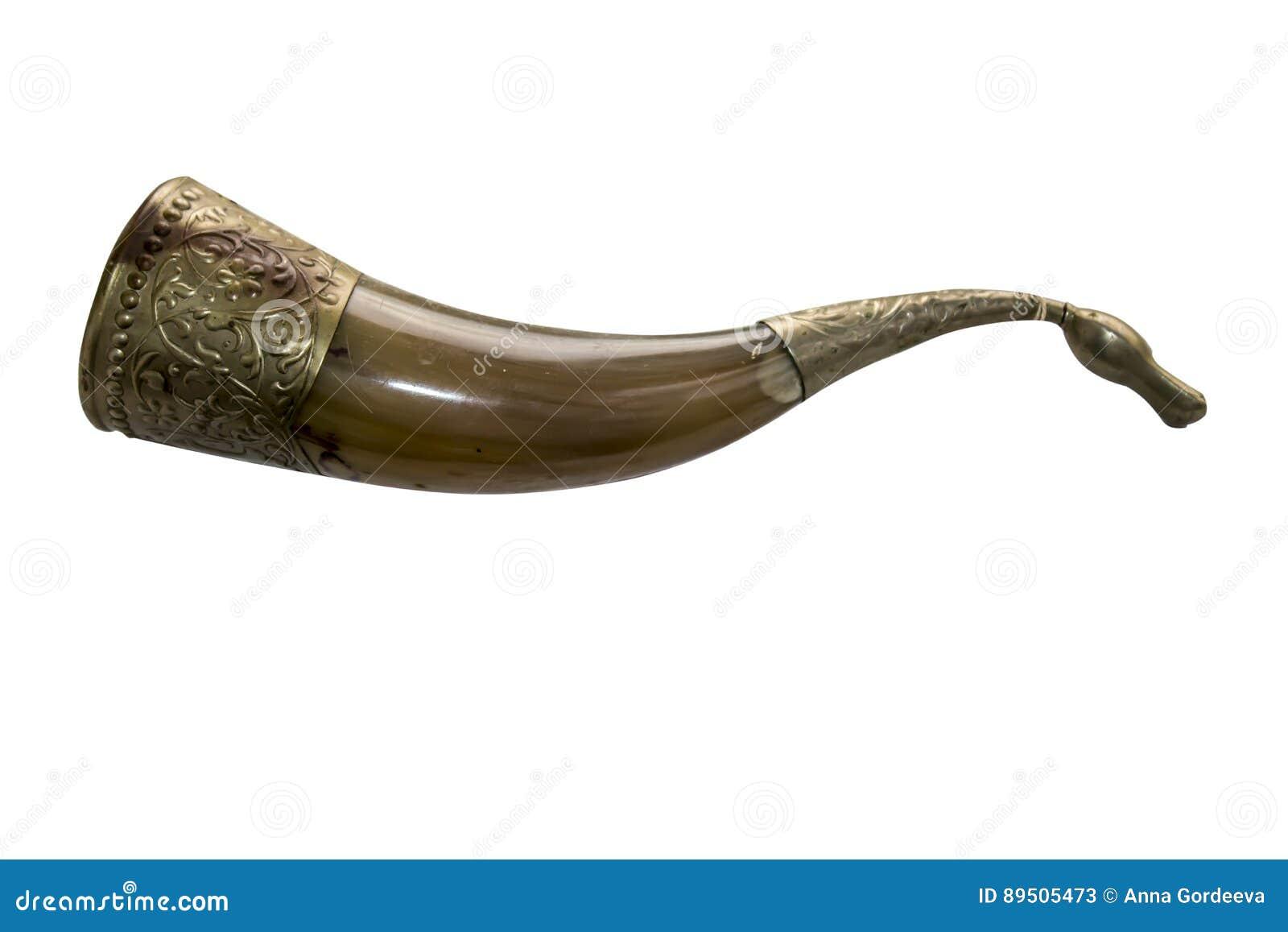Powder flask horn ornament