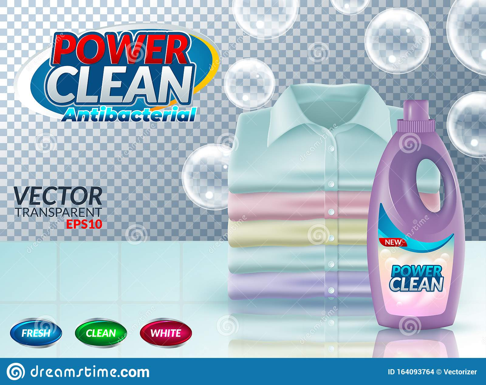 Powder Laundry Detergent Advertising Poster. Vector ...