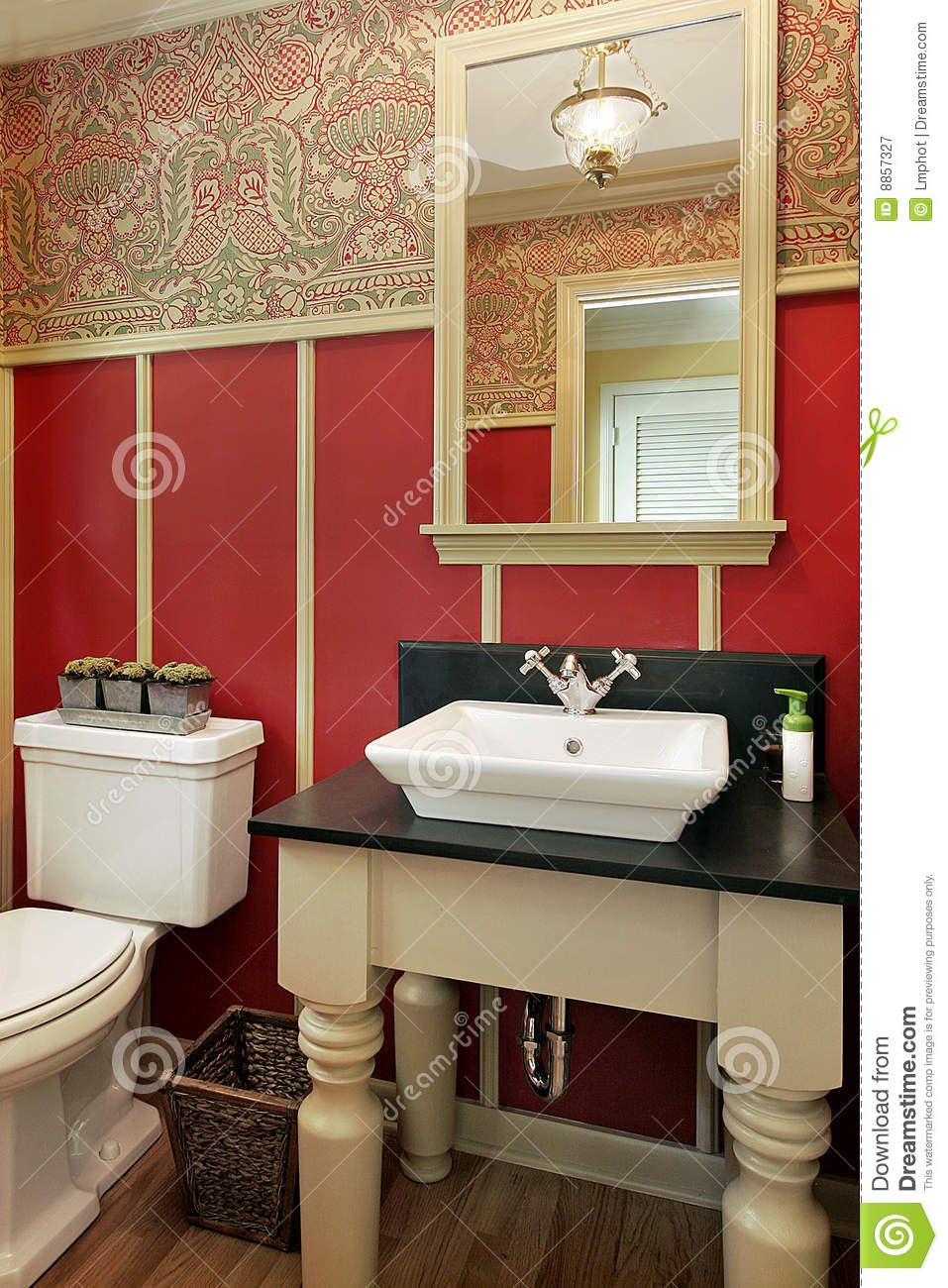 Powder Room In Luxury Home Stock Image Image Of Master