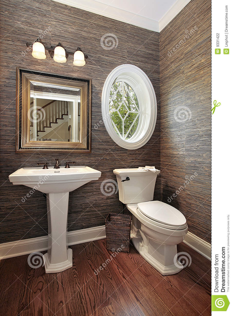 Powder Room In Luxury Home Stock Photo Image Of Estate