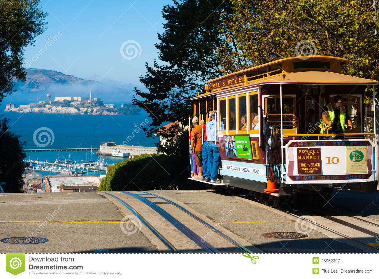 Powell Hyde Cable Car Alcatraz San Francisco