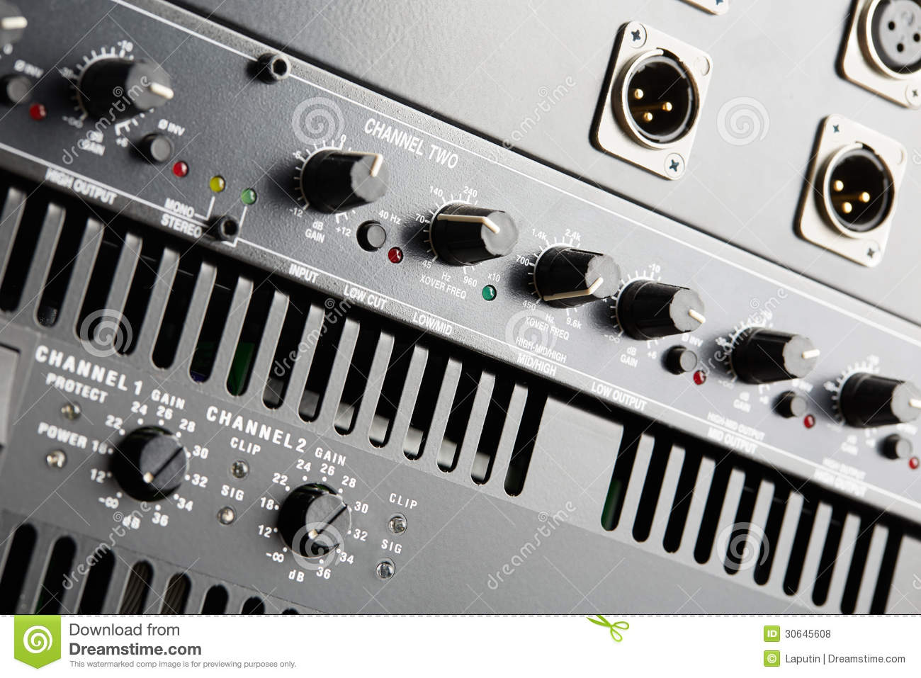Power Amplifier And Equalizer Stock Photo - Image of image