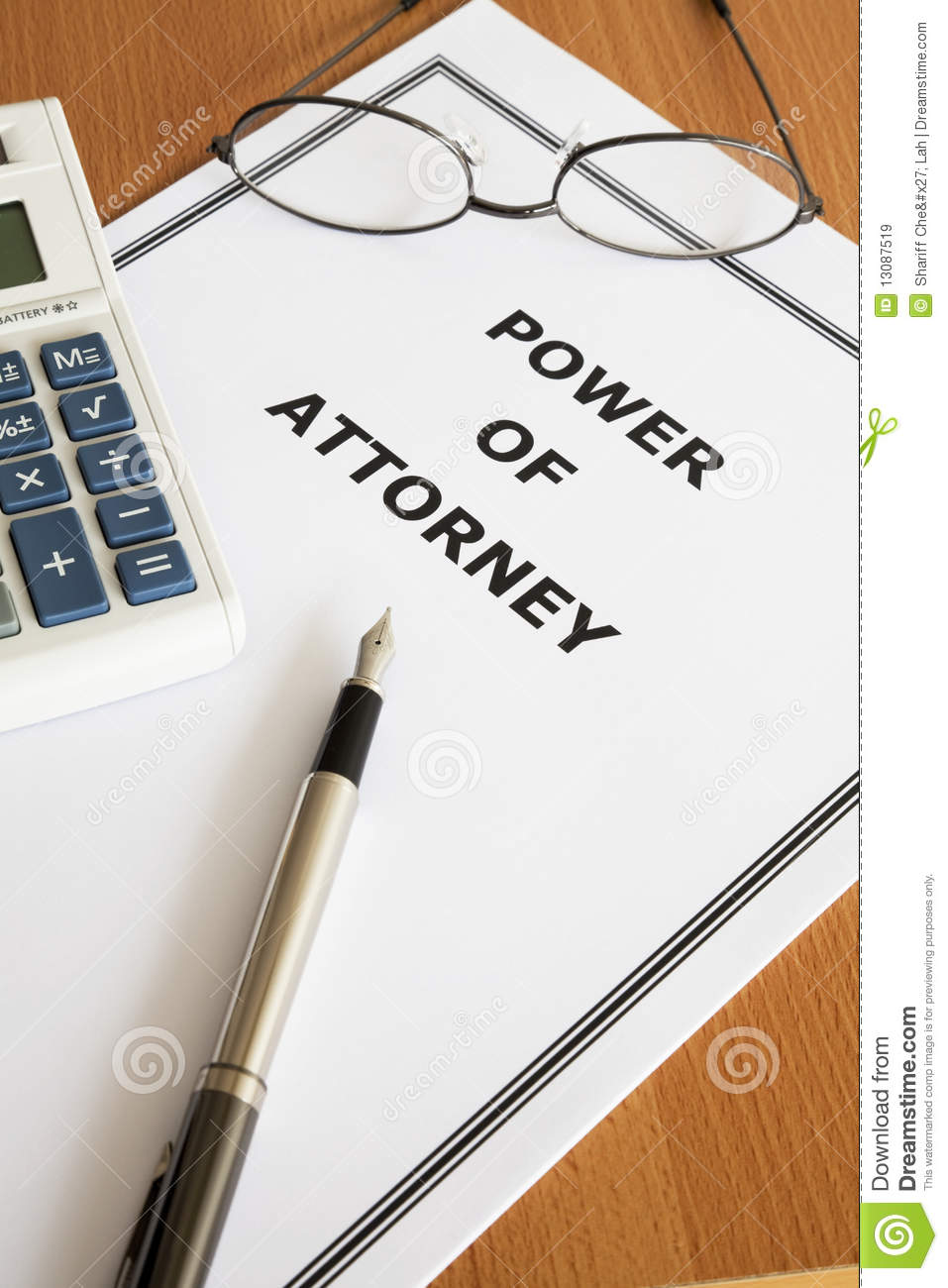Power Of Attorney Royalty Free Stock Images - Image: 13087519