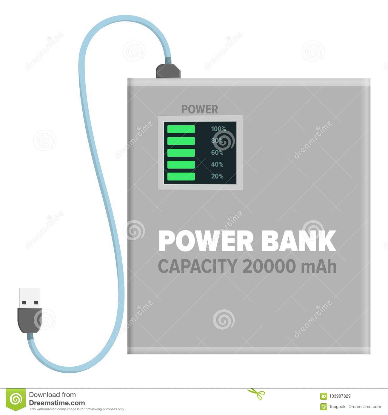 Power Bank For Charging Isolated Illustration Stock Vector ...