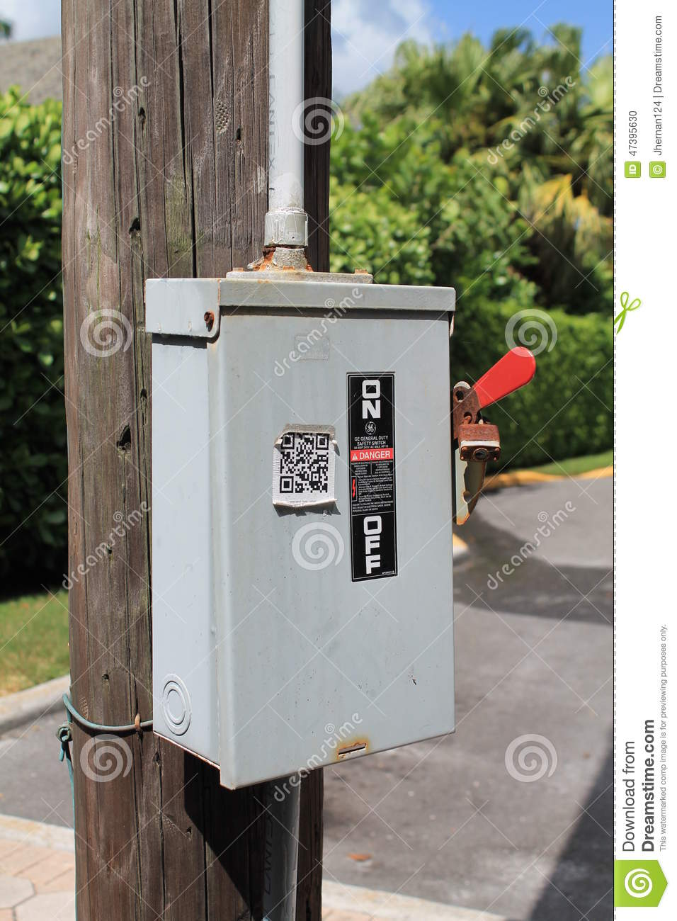 Power box outside stock photo Image of electric cutout