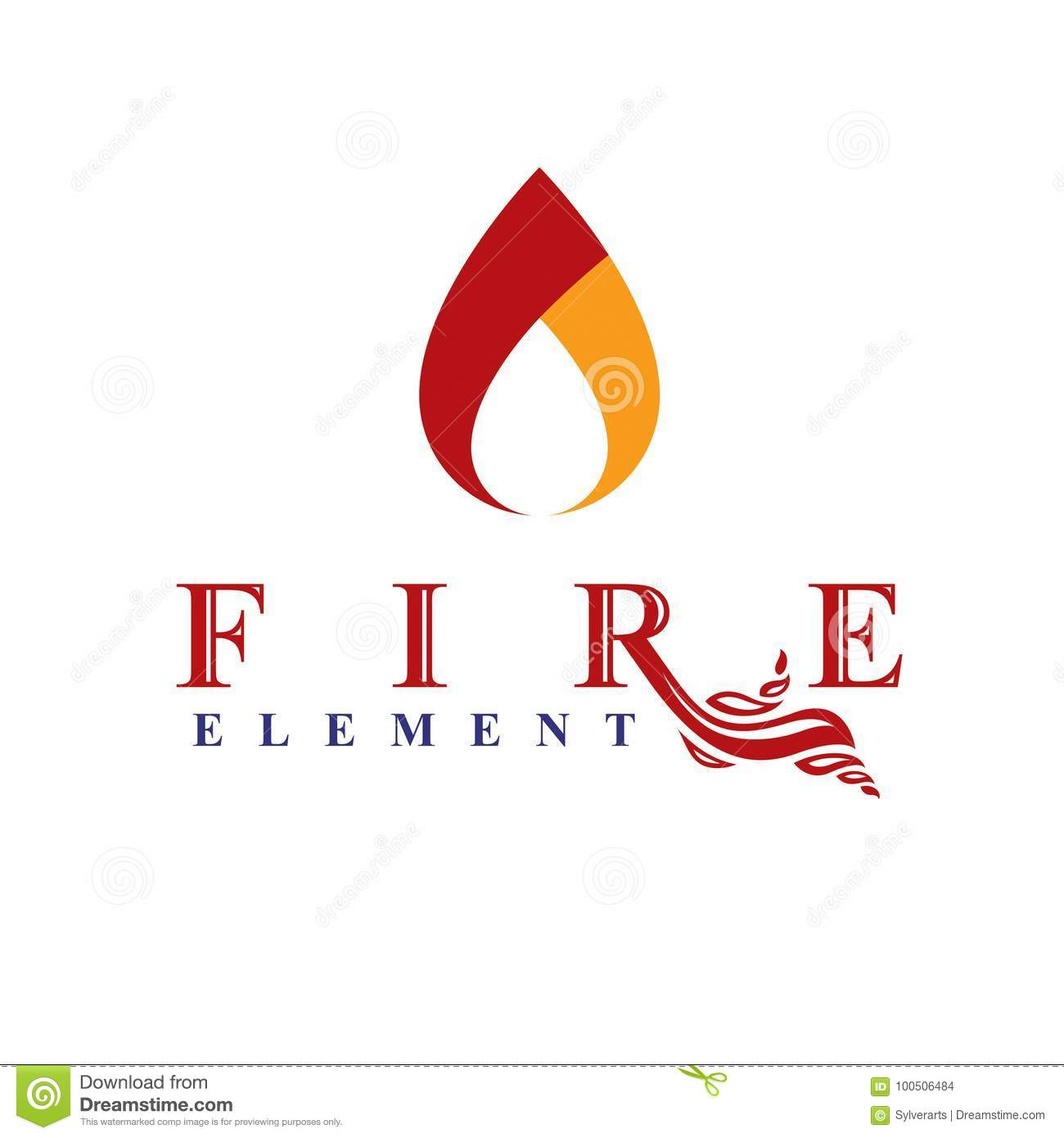 The Power Of Burning Flame Fire Element Abstract Vector Logo Fo