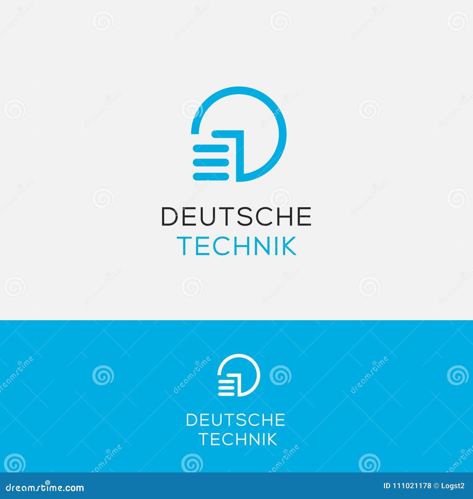 power button vector logo technic logo stock vector illustration