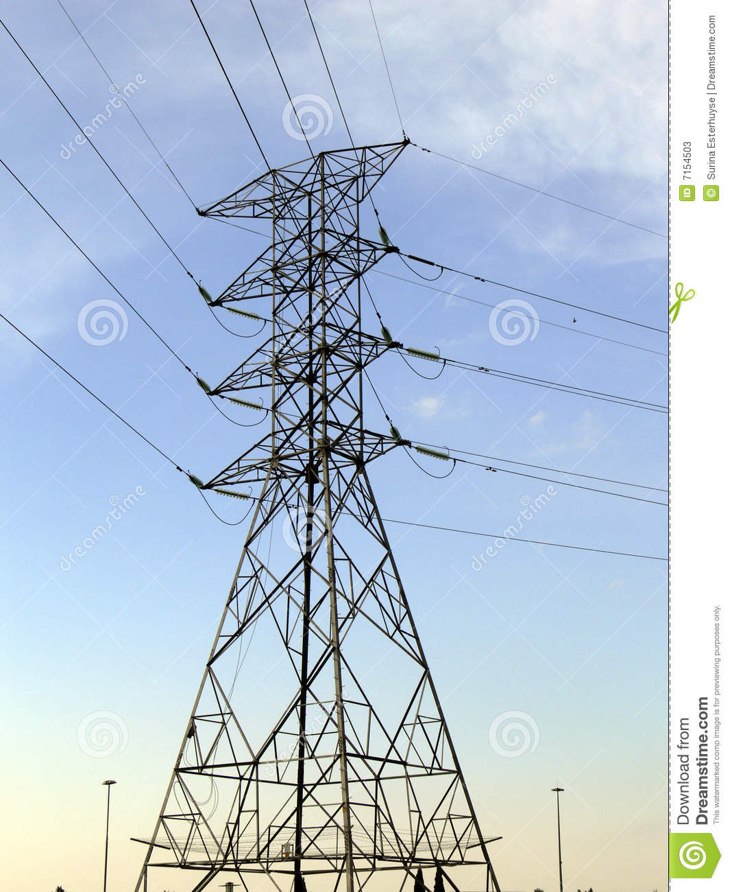 Computer Tower Cable : Power cable tower stock photos image
