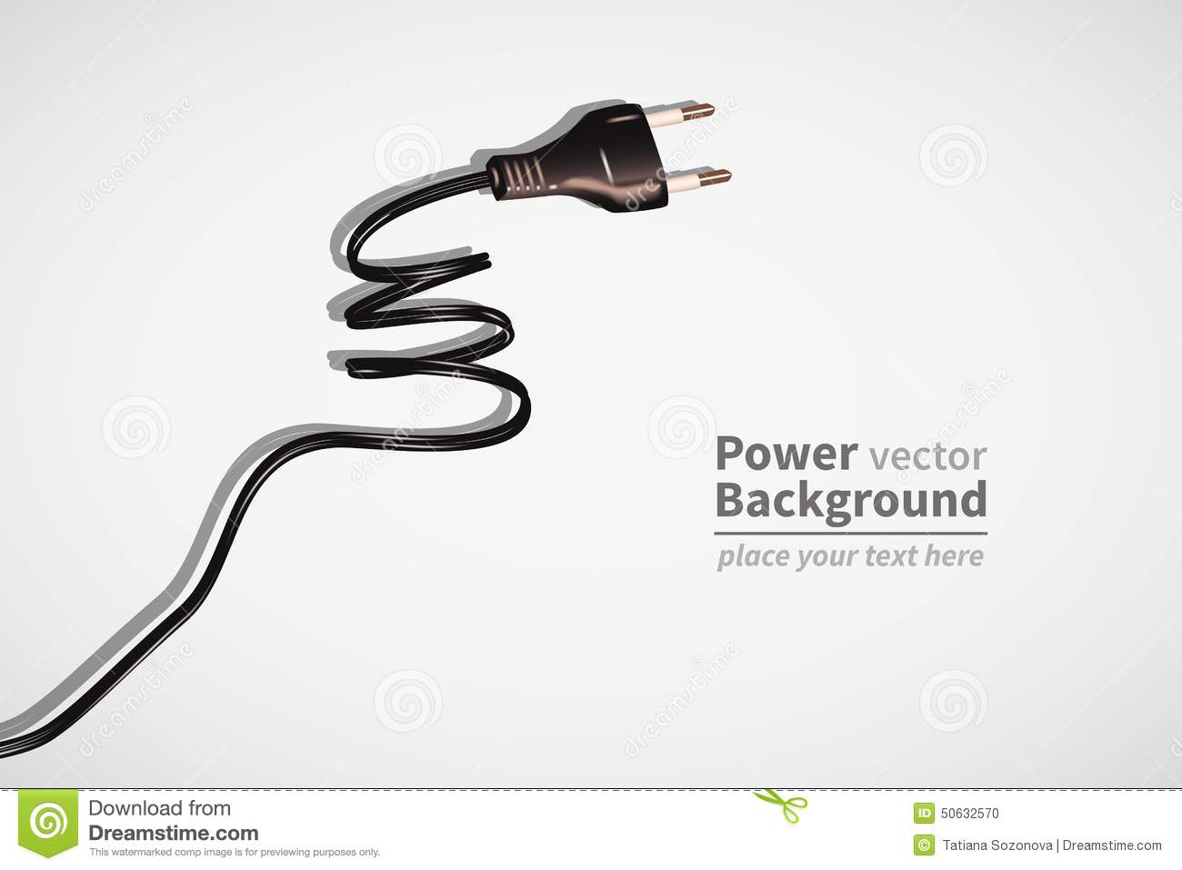 Power Cord Stock Vector Image Of Current Power Object