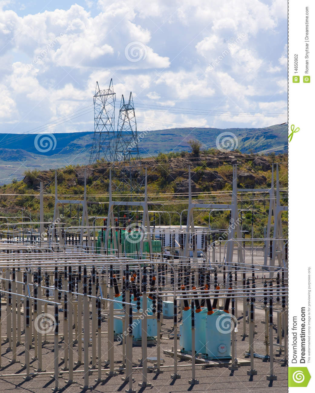 Power distribution substation stock photography image for Distribution substation