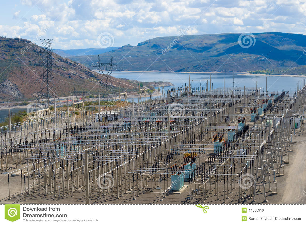 Power distribution substation royalty free stock image for Distribution substation