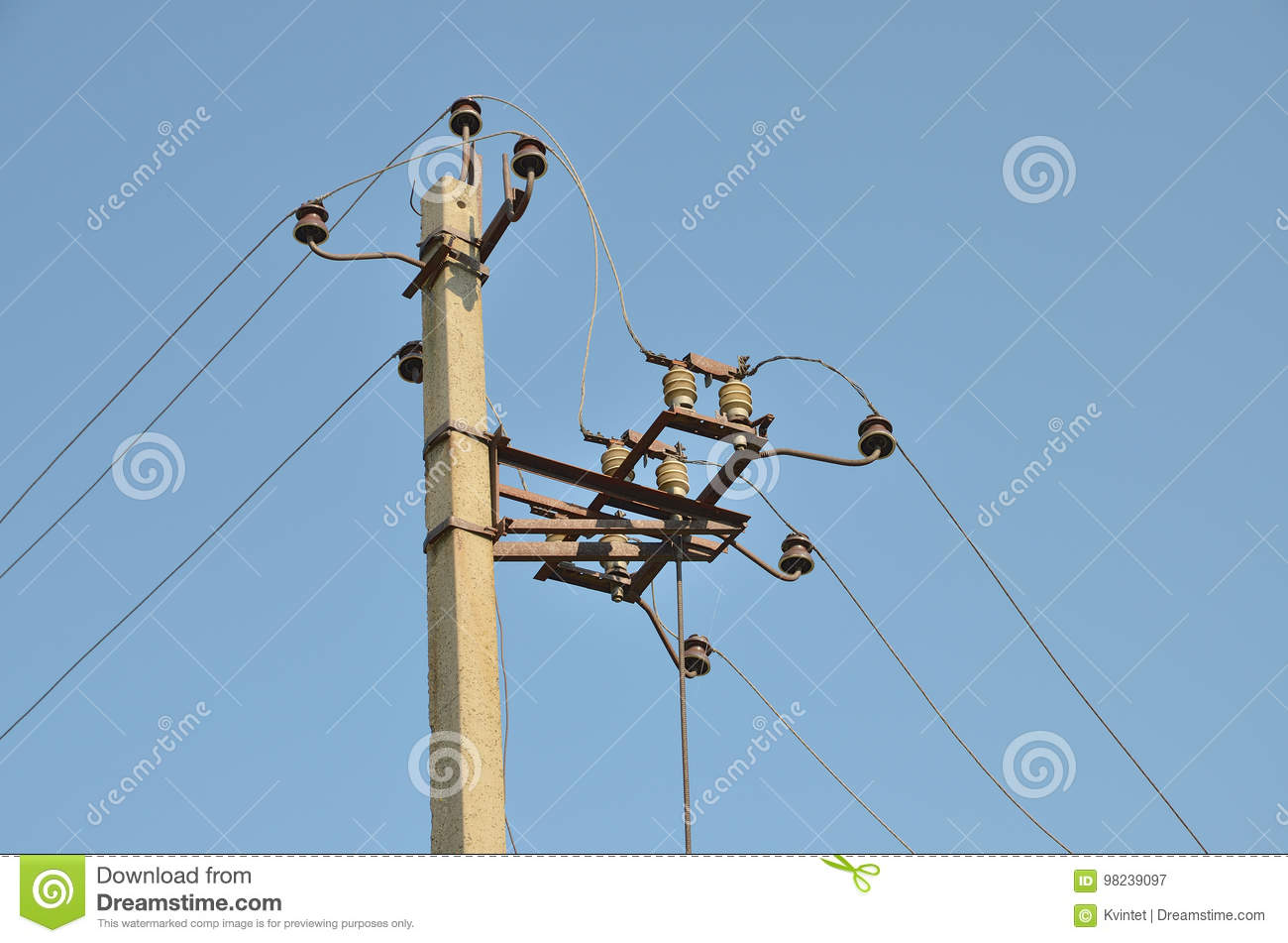 Power Electrical Disconnect At Pillar Stock Image - Image of current ...