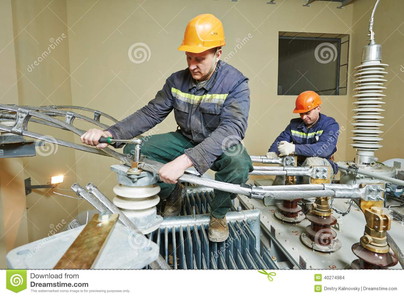 Download Power Electrician Lineman At Work Stock Photo - Image of huge, line: 40274984