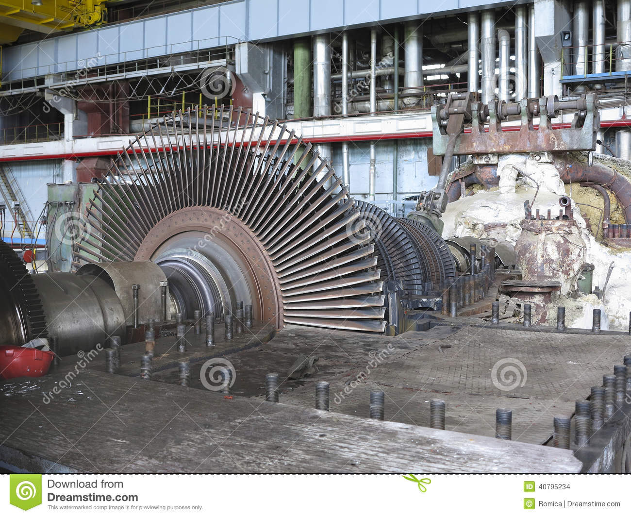 Power Generator And Steam Turbine During Repair Editorial