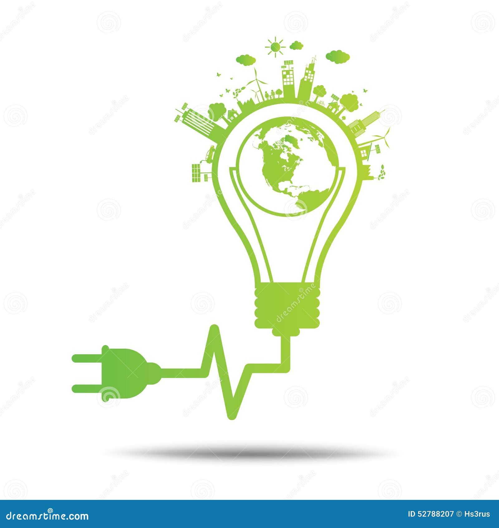 Power green concept idea ecology tree environmentally for Ideanature