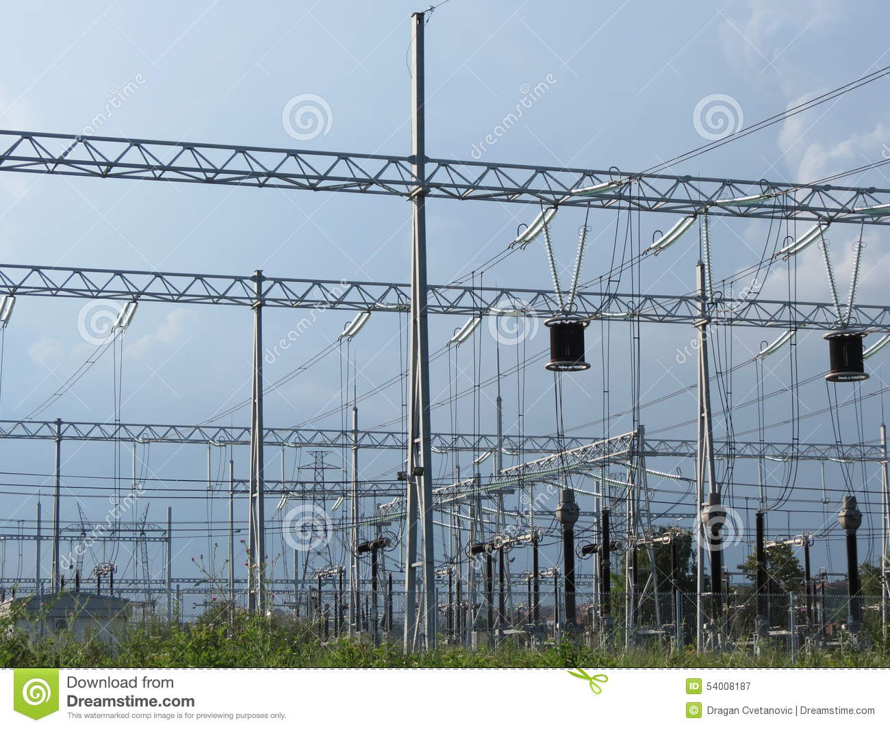 Power Grid Stock Image Of Expensive Relay Electrical 54008187 Station With Trafo