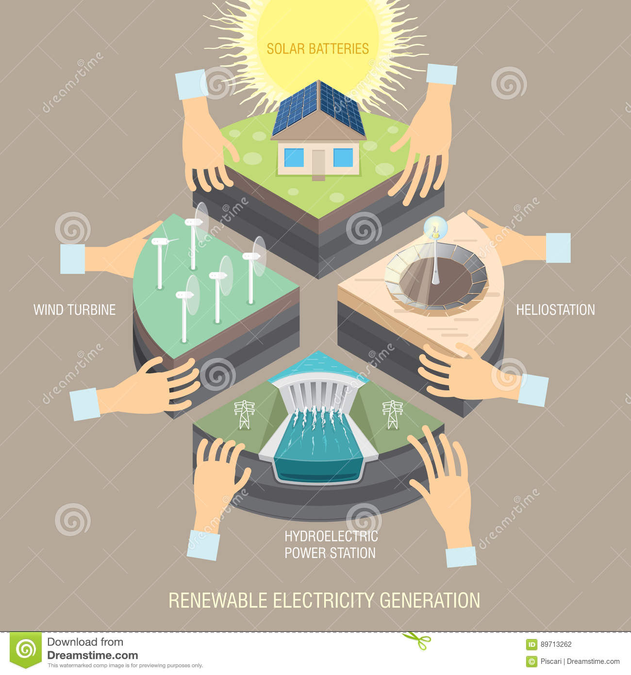 Power Industry Stock Vector Illustration Of Electrical 89713262 Powering A Generation Generating Electricity