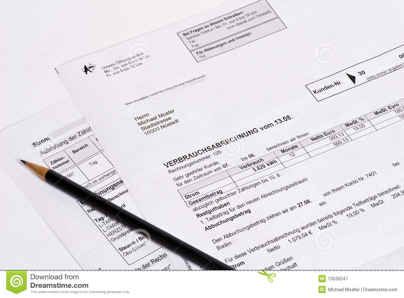 power invoice royalty stock photography image 13539347 power invoice