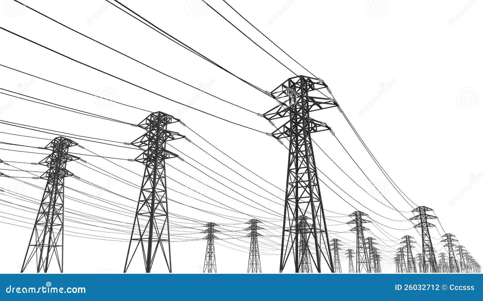power line stock illustration  illustration of industry