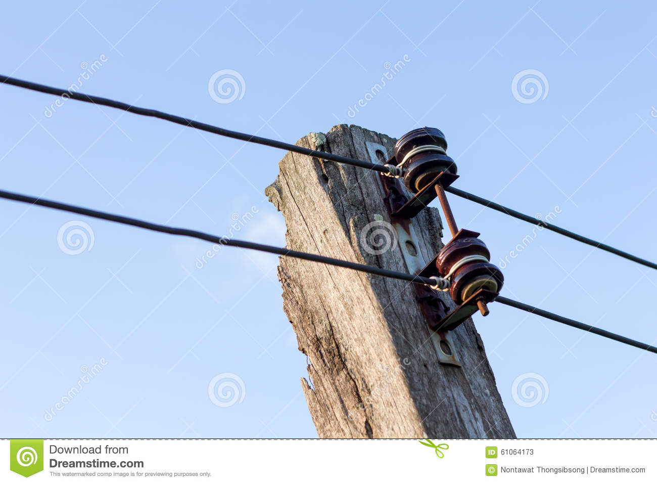 Power line conductor stock photo image