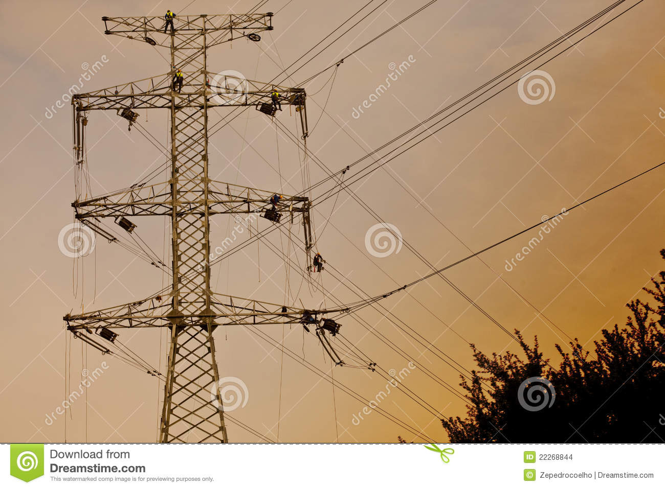 Power Line Construction Stock Images Image 22268844
