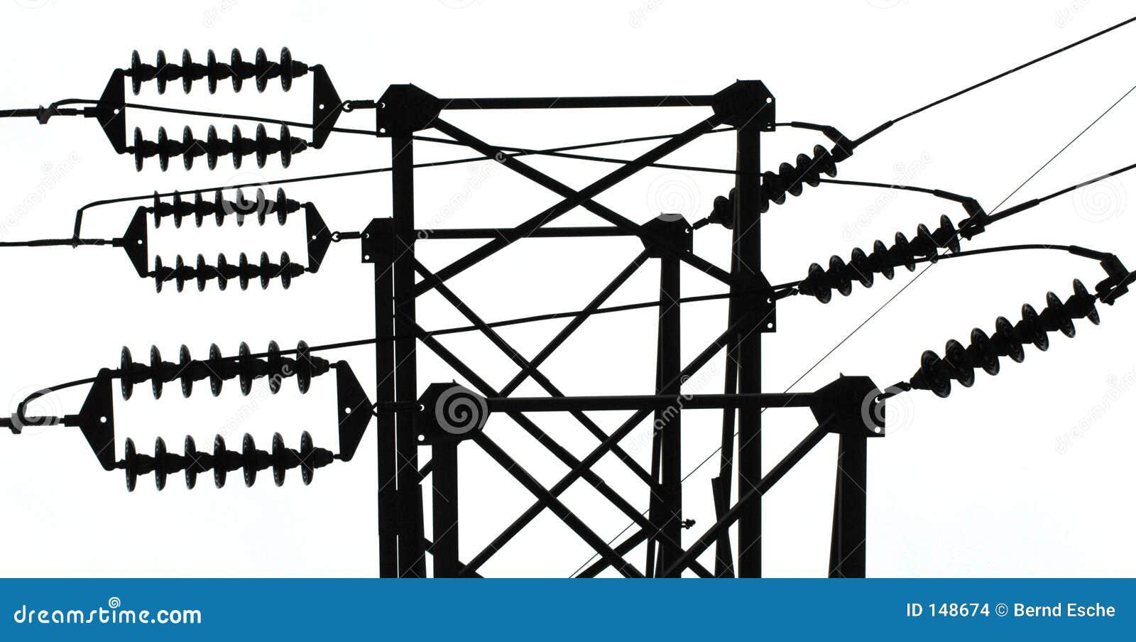 Power line insulators stock photo image of wires supply for Power line insulators glass