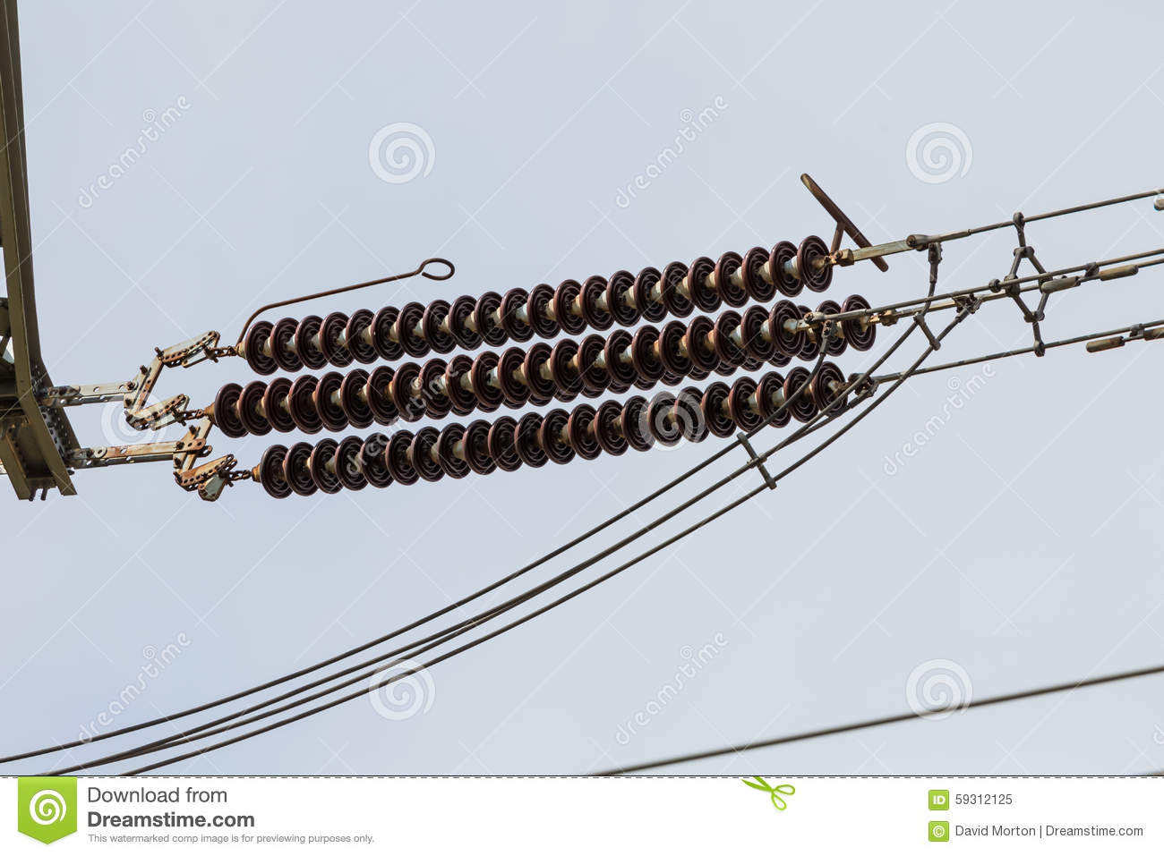 Power Line Stock Image Of Electricity Shed 59312125 How To Wire A For
