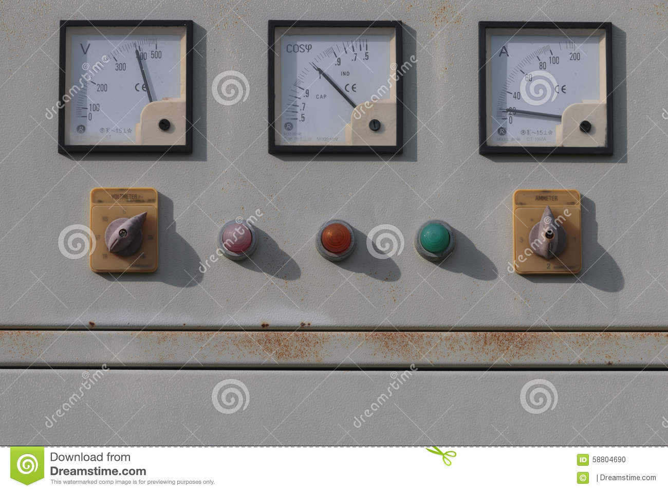 Power Meters In Line : Power line meter royalty free stock image cartoondealer