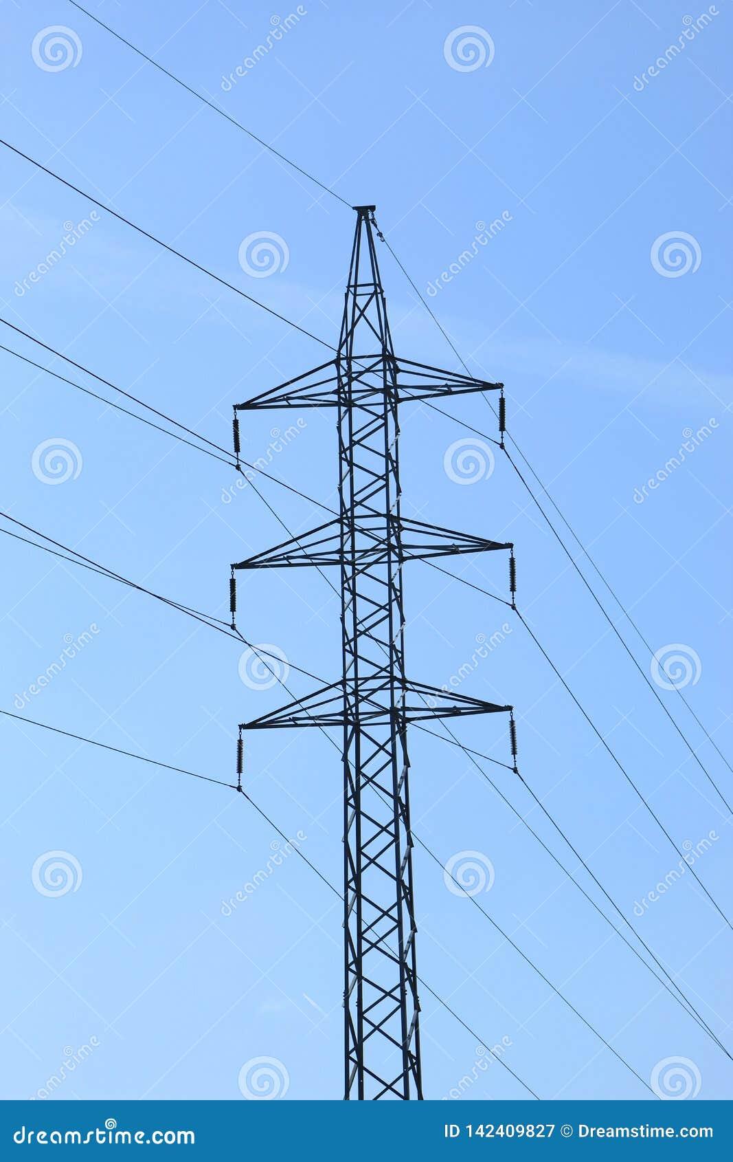 Power line in Pontevedra