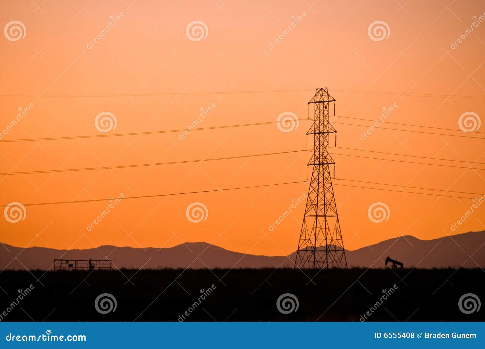 Power line sillouette