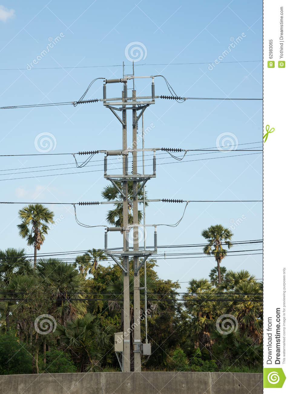 Power line switch gear stock image. Image of wire, industry - 62983065