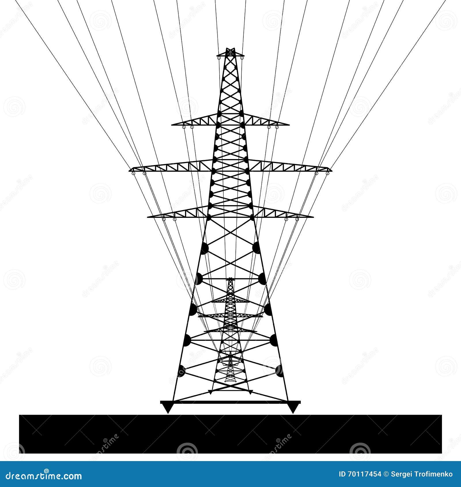 Power Line Vector Eps10 Stock Vector Illustration Of