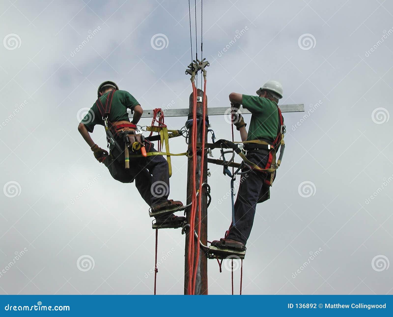 Power Lineman Stock Photography - Image: 136892
