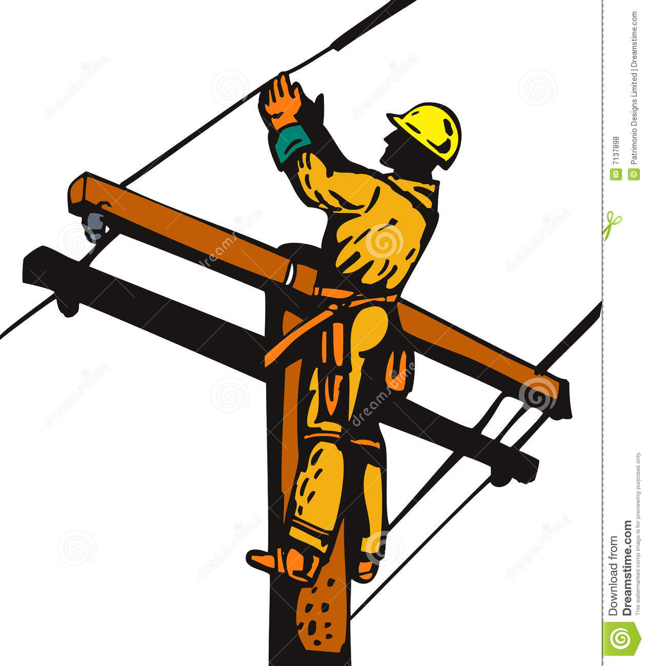 lineman stock illustrations 313 lineman stock illustrations rh dreamstime com offensive lineman clipart lineman clipart electrical