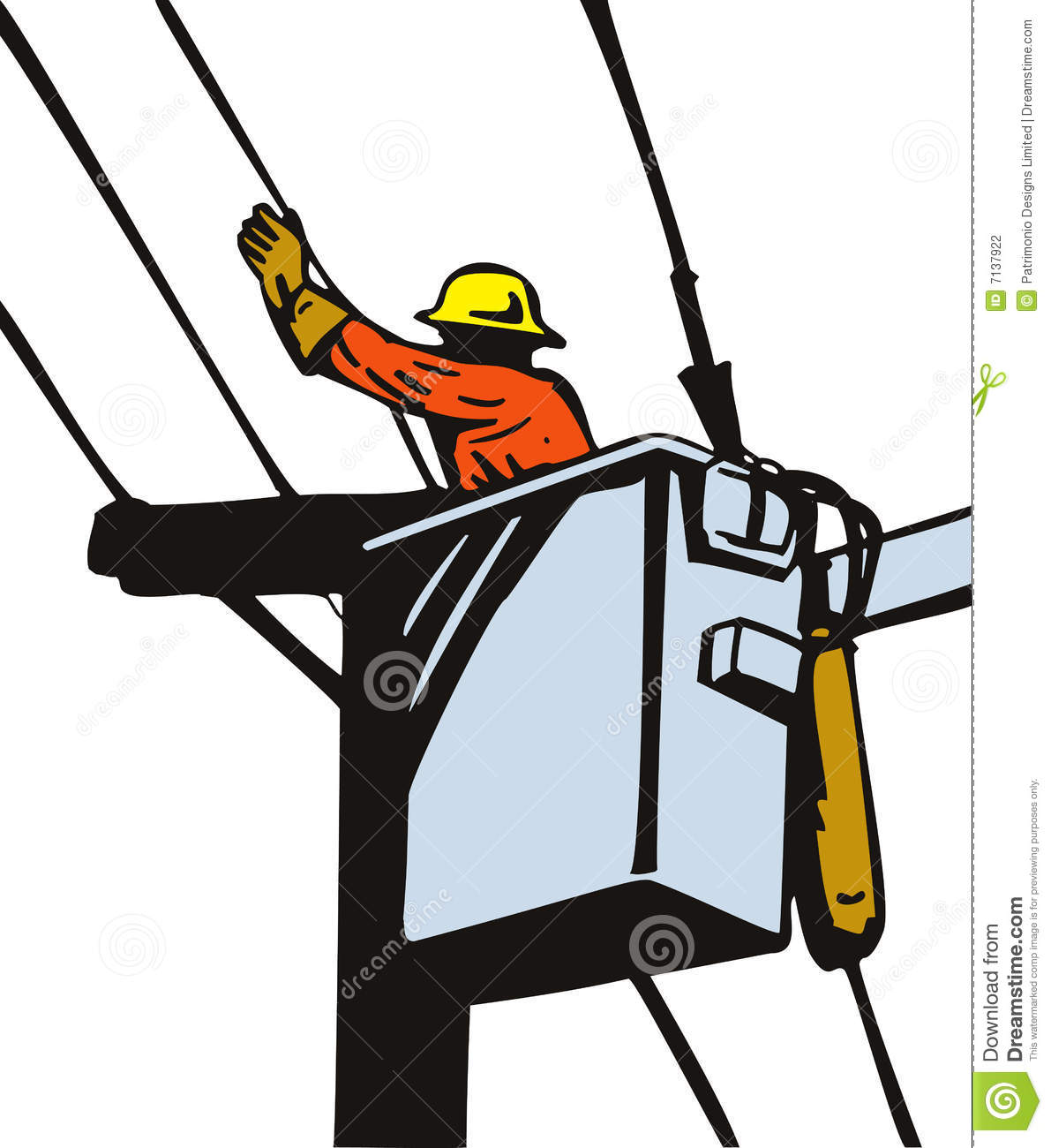 Power Lineman At Work Stock Photography - Image: 7137922