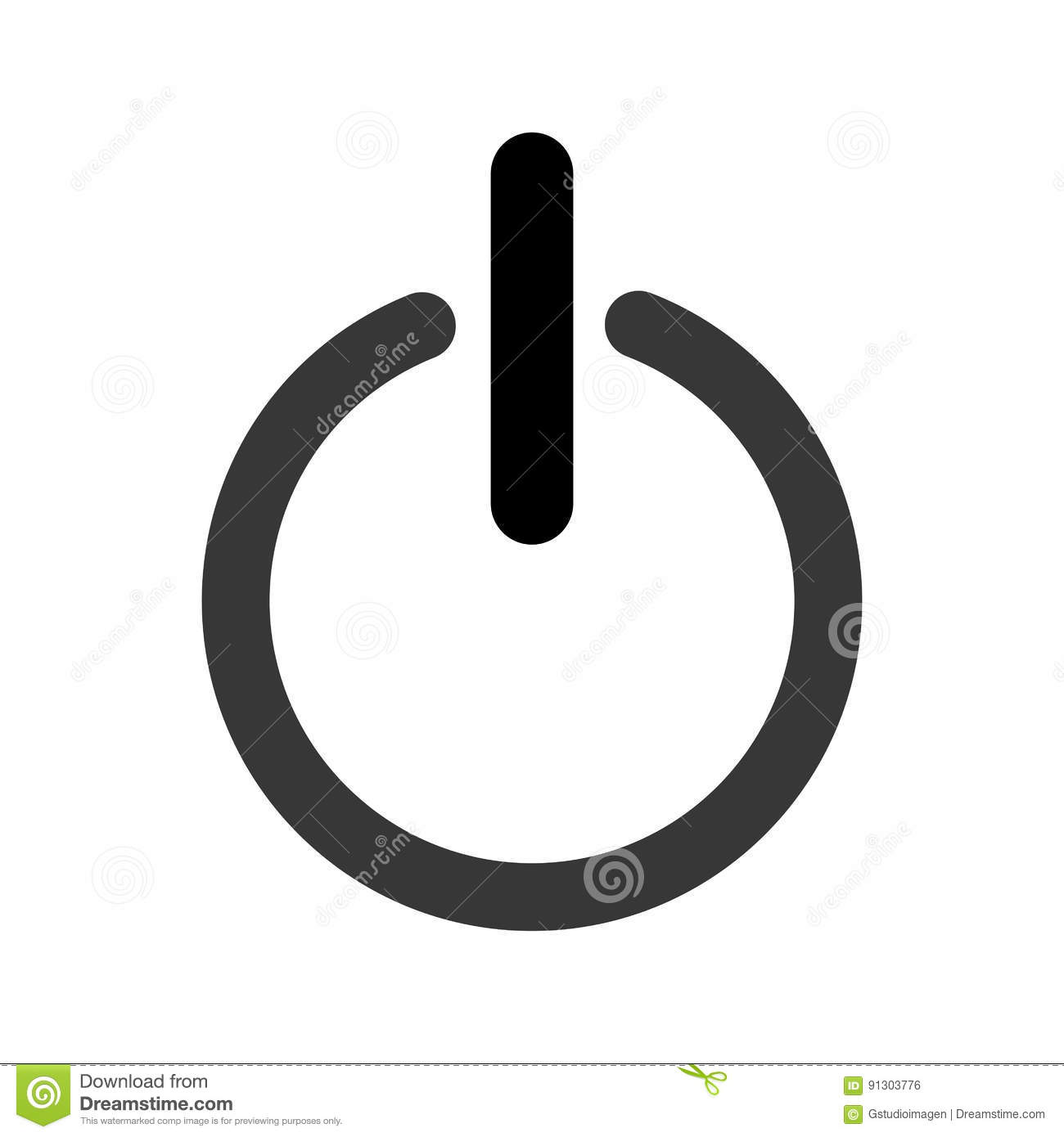 Power On And Off Button Stock Vector Illustration Of Illustration