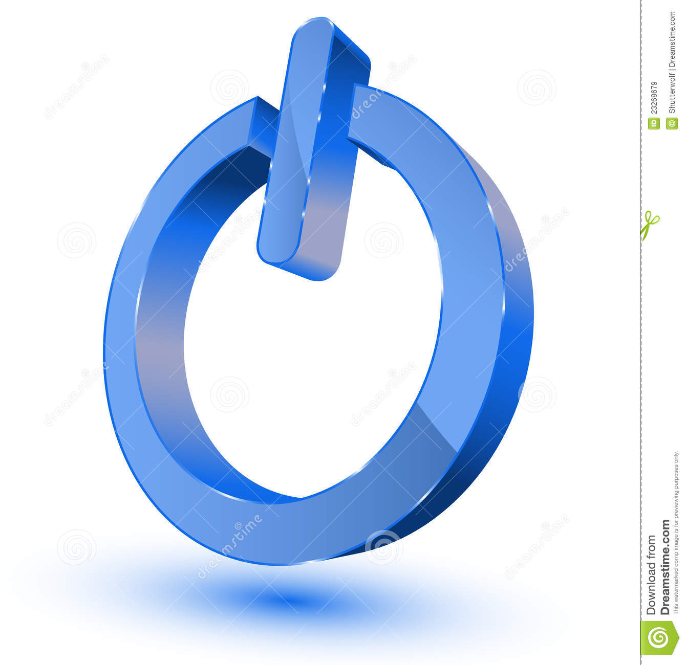 Power On Off Symbol Stock Vector Illustration Of Finish 23268679