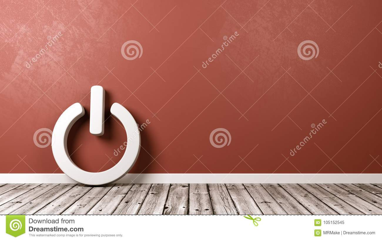 Power On Off Symbol On Floor Stock Illustration Illustration Of
