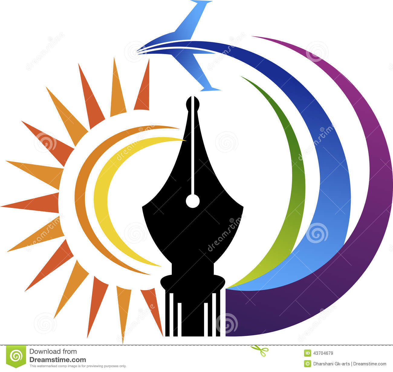 power pen air logo illustration art isolated background 43704679
