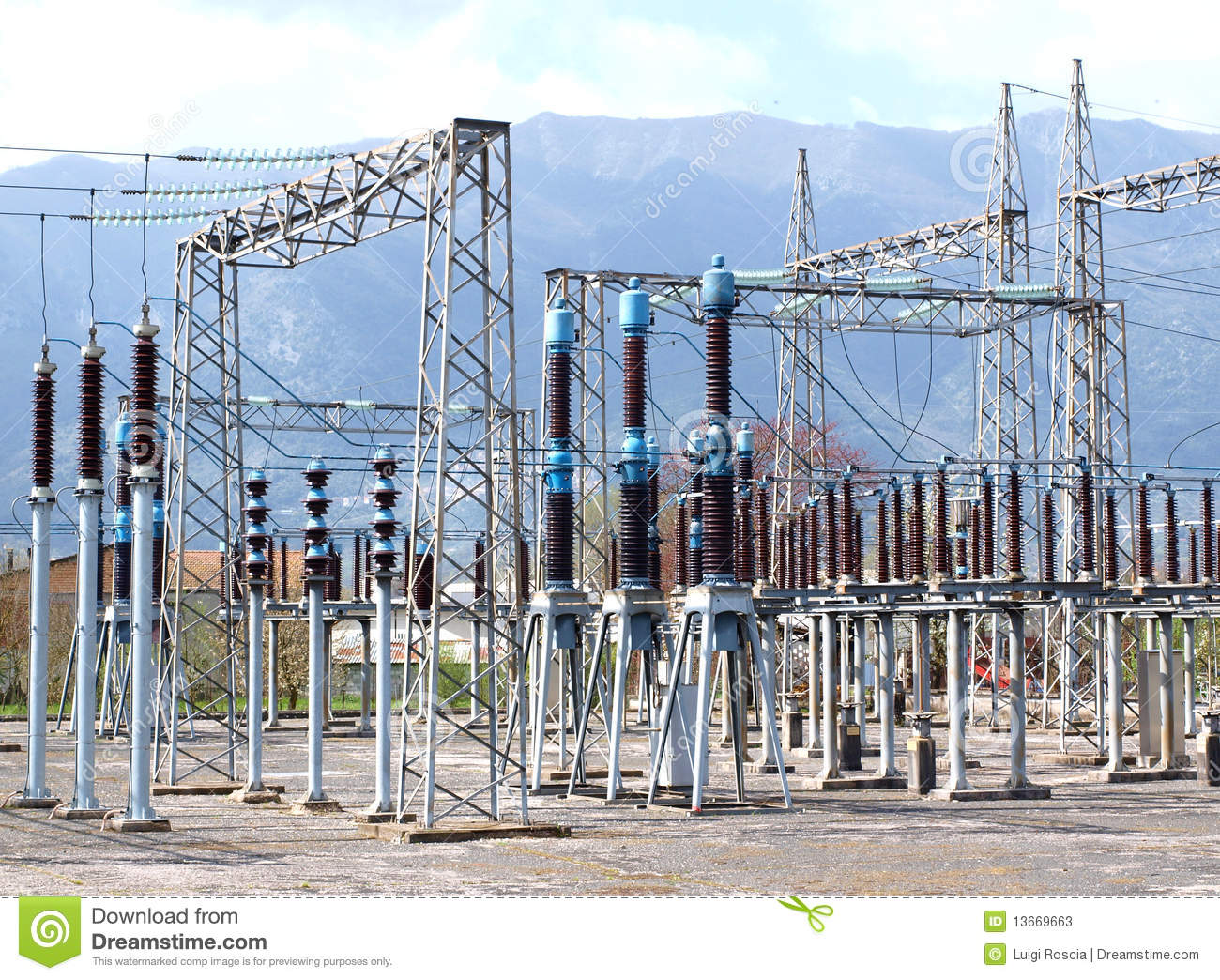 Power Plant Stock Image Image Of Cables Electric