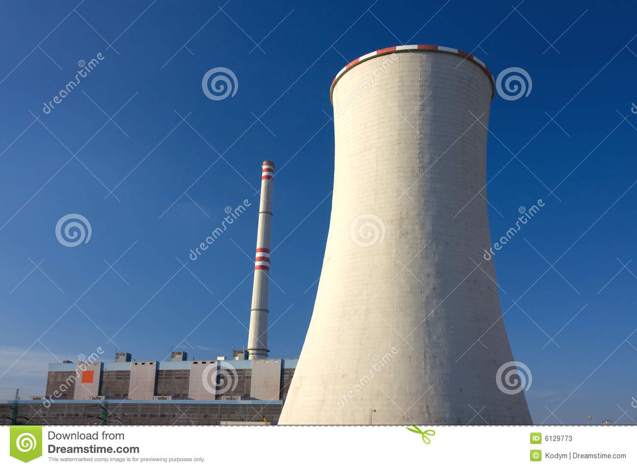 Coal power-plant and cooling-tower.