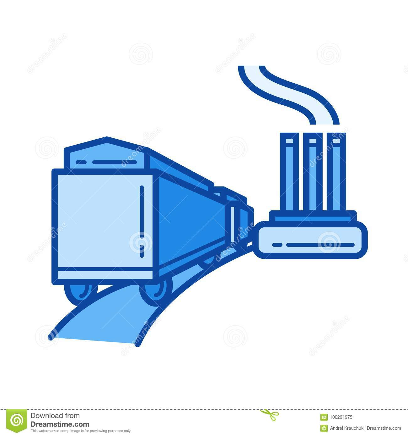 Power Plant Line Icon Stock Vector Illustration Of Delivery Diagram Pictures