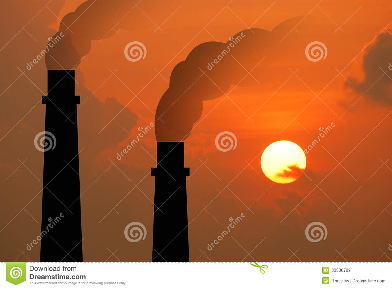 Power plant powerhouse electric industry industrial business factory background for design